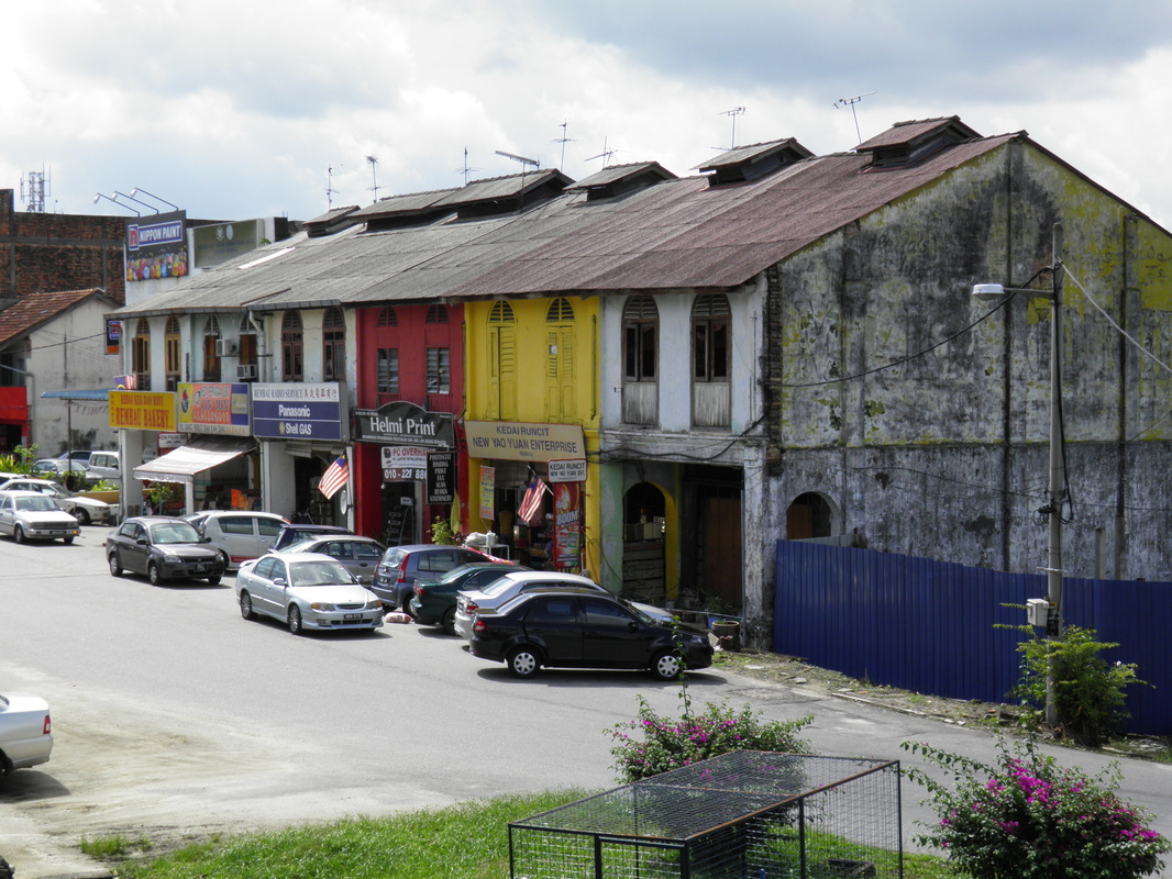 A row of shophouses in Rembau.